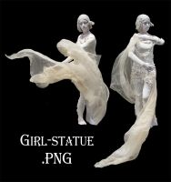 Girl-statue .png cut-out by ForestGirlStock
