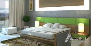 Bedroom interior design by adorodesign