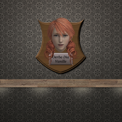 Trophy Plaque - Oerba Dia Vanille by DeliciousVGBabes