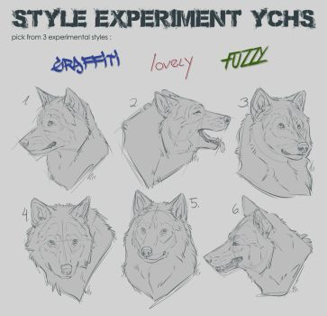 Style experiment YCHs by Therbis