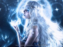 Moon goddess by OuroborosCovers