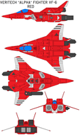 VAF-6 Alpha Fighter red by bagera3005