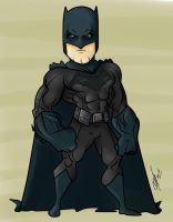 Ben Affleck Batman Toon by Kryptoniano