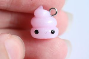 Pretty Poop Polymer Clay Charm by xoxRufus
