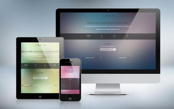 iBlurr - Responsive Under Construction Template by Resetblue