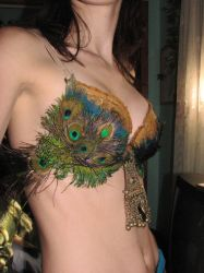 peacock belly dancer by The-Vampyress-K