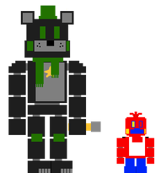 8-Bit Greenfty And Redica by YellowBonnie01