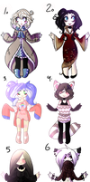 Batch 6 adoptables {OPEN} by Claw-kit