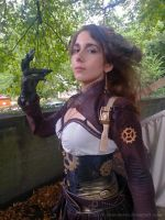 Steampunk Dragon Cosplay Close up by H-Chan-Arts