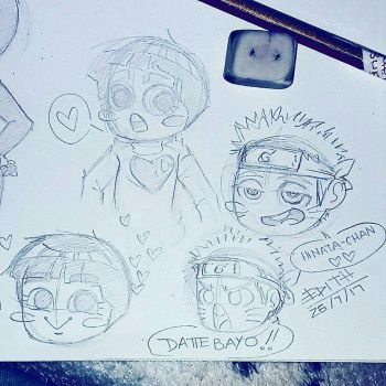 Naruto  Rock Lee sketches by Edithanime98