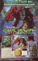 2017 Zodiac Dragons Calendars Arriving in June by The-SixthLeafClover