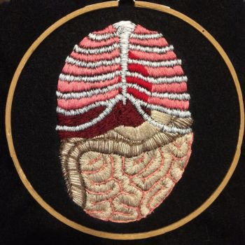 Embroidered Organs by kaleidoscopickle