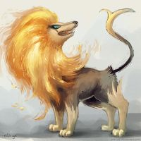 Pyroar by eldrige