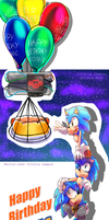 A Gift - Happy Birthday Sonic by heitor-jedi