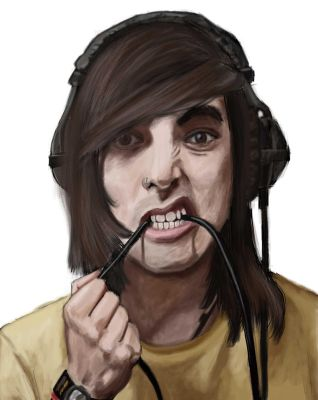 Digital Painting Practice - Vic Fuentes by DREAMSOFASINGER