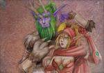 Broll and Valeera by Z-N-K