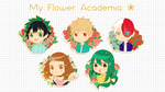 My Flower Academia Enamel Pins by enzouke