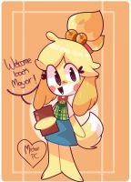Isabelle animal crossing by michanpc
