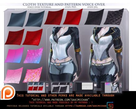 Cloth texture pattern voice over tutorial.promo. by sakimichan
