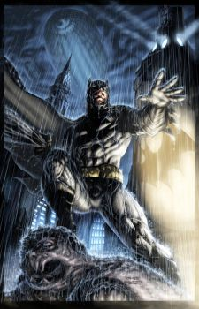 Batman Jim Lee battle piece by vic55b