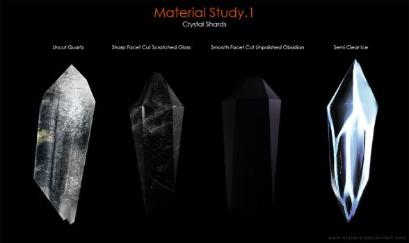 Material Study.1 [Crystal Shards] by SaxonSurokov