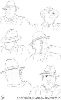 Fedora Studies by PhantomSkyler