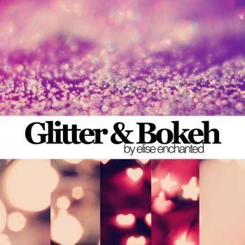 Glitter and Bokeh textures by EliseEnchanted