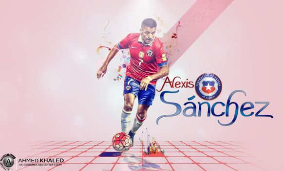 Alexis Snchez Wallpaper 2015/16 by AK-DESIGNER