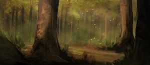 Landscape practice - forest by Sharobury
