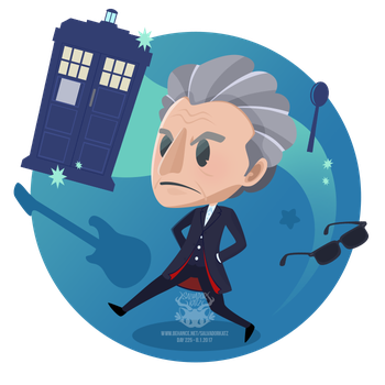 Day 225 - the twelfth doctor by salvadorkatz