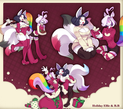 Ellie and B.B Holiday Doodlepage Commission by Vongulli