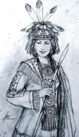 Princess Immookalee of Native American Tribes by Gambargin