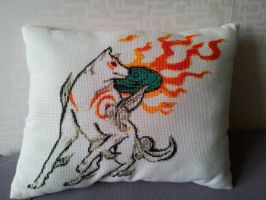Amaterasu cross stitch by capotasto