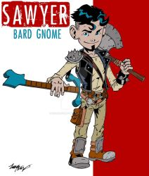 Sawyer: Bard Gnome by wonderfully-twisted