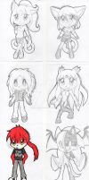 Chibi Galore batch 1 by KeyaraHedgehog09