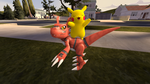 Guilmon and Pikachu by Xboxking37
