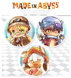 Made In abyss Button set by jinyjin