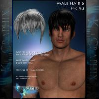 Male Hair 6 Painted Instant hair PNG add on stock by MakeMeMagical