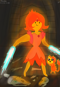 Flame Princess FanArt #2-Adventure Time by Andrasfu1027