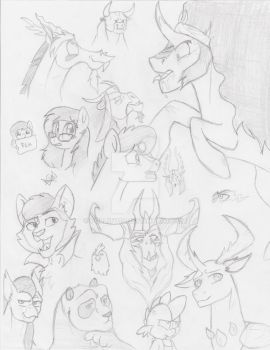 Sketches of MLP and KFP by pollito15