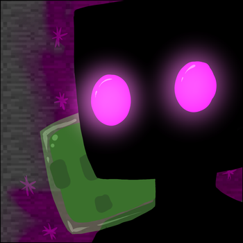 Enderman and Tiny Slime by AccursedAsche