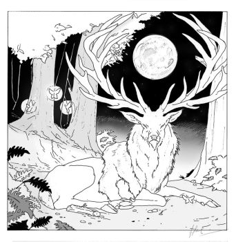 White Stag by HimmeltheBlue