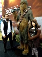 Hairy Han, Chewbacca And Lil' Chewie by JUMBOLA