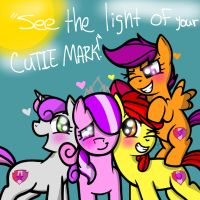 See the light of your cutie mark! (Mlp:FiM) by YaoiLover113