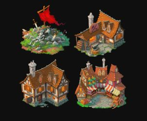 Fantasy buildings by petura