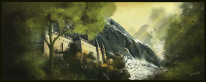 Castle Matte painting by JonathanDeVos