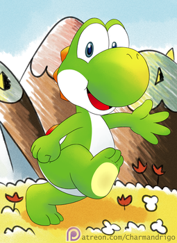 Yoshi au naturel by CharmanDrigo