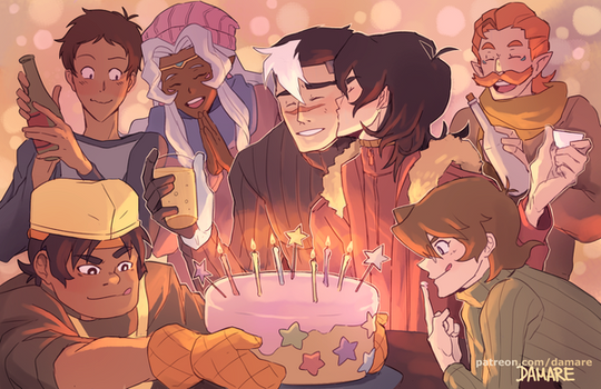 Voltron Shiro Birthday by Damare
