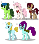 Pony Adoptables Auction (OPEN) by NoxidamXV
