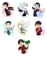 Yuri on Ice Chibis by sukirai14